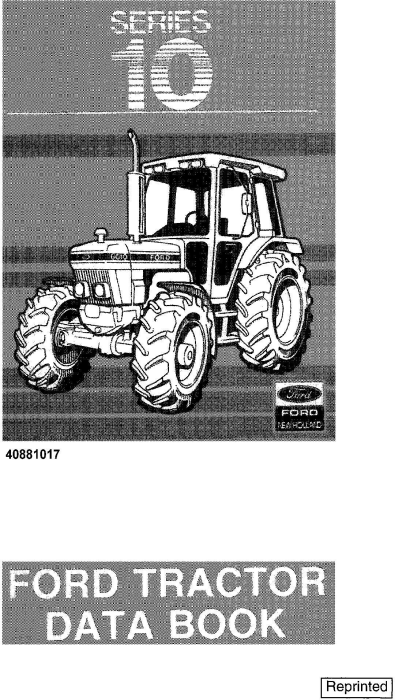 First Additional product image for - Ford 2910, 3910, 4110, 4610, 5610, 6610, 6710, 7610, 7710 Tractors Data Book Manual (4254)