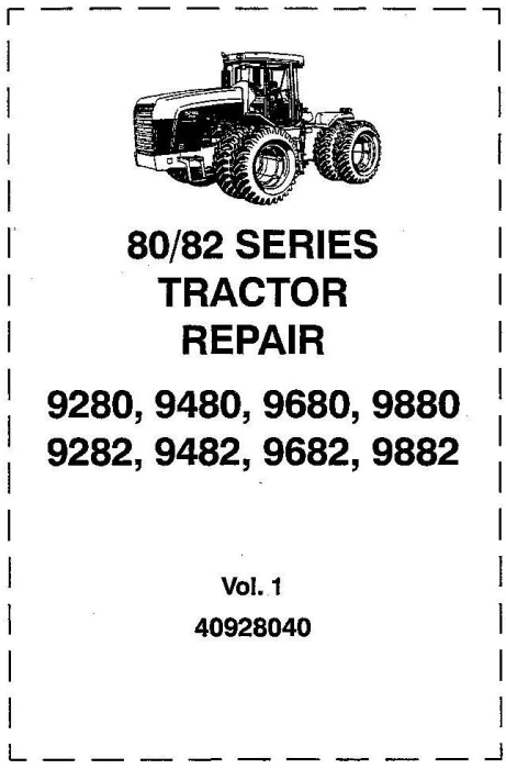 First Additional product image for - Ford 9280, 9480, 9680, 9880, 9282, 9482, 9682, 9882 Tractor Complete Service Manual