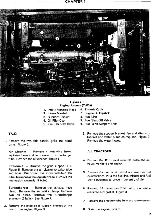 Second Additional product image for - Ford TW10, TW20, TW30 Tractor Service Manual (SE3734)
