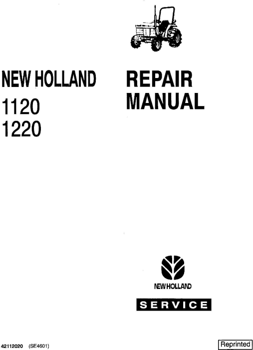 Ford 1120, 1220, 1215 Tractors Service Manual (SE4601