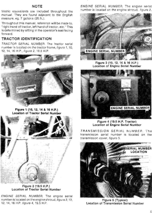 Second Additional product image for - Ford Ford 100, 120, 125, 145, 165, 195 Lawn & Garden Tractor Service Manual