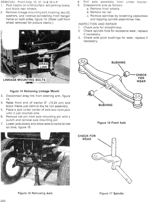 Fourth Additional product image for - Ford Ford 100, 120, 125, 145, 165, 195 Lawn & Garden Tractor Service Manual