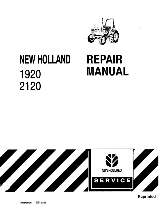 Ford, New Holland 1920, 2120 Tractors Service Repair