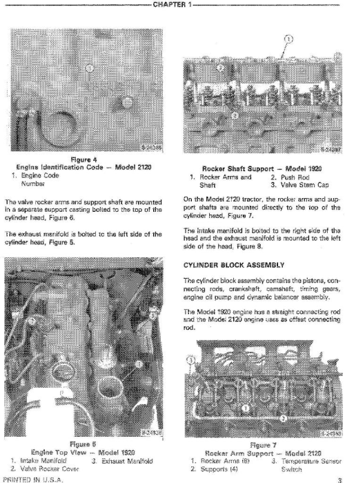 Second Additional product image for - Ford, New Holland 1920, 2120 Tractors Service Repair Manual with supplements