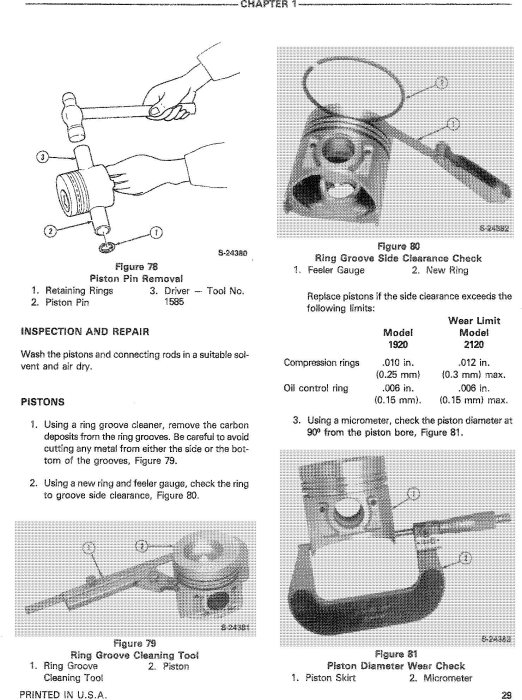 Third Additional product image for - Ford, New Holland 1920, 2120 Tractors Service Repair Manual with supplements