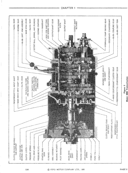 Fourth Additional product image for - Ford 2000, 3000, 4000, 5000, 7000, 3400, 3500, 3550, 4400, 4500, 5500, 5550 Tractor Service Manual