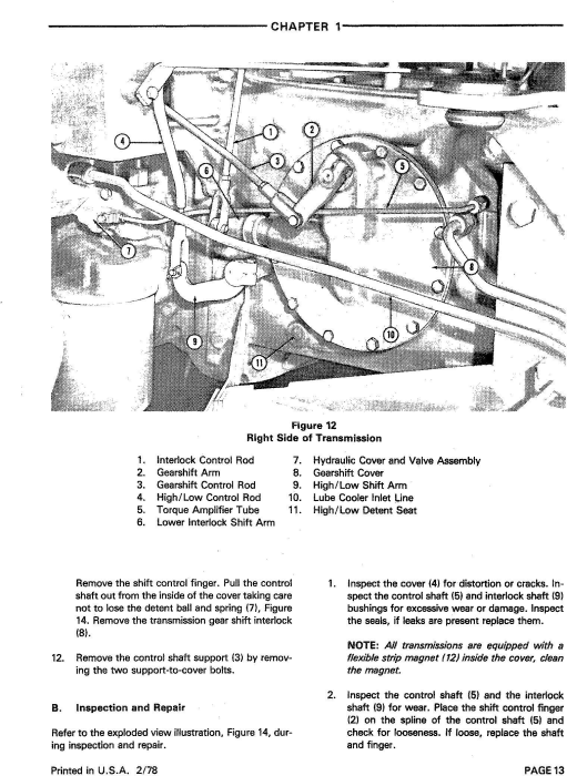 Fourth Additional product image for - Ford 8700, 9700 Tractor Service Repair Manual (SE3700)