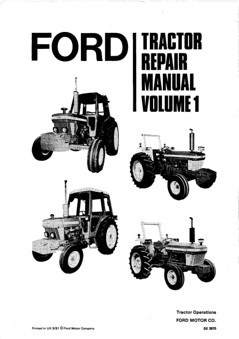 First Additional product image for - Ford 2910, 3910, 4110, 4610, 5610, 6610, 6710, 7610, 7710, 8210 Tractors Service Manual