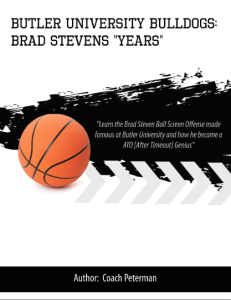 "butler university bulldogs: brad stevens ""years"""