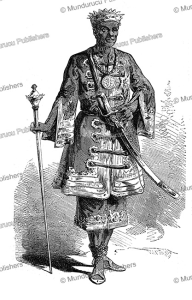 gezo, the king of dahomey (1818-1858), l'illustration, 1852
