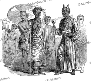 me´hou, the first minister of dahomey and his mother, valentin, 1852