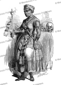 the favourite queen of abomey in dahomey, valentin, 1852