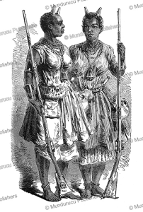 female warriors (amazons) of the kingdom of dahomey, valentin, 1852