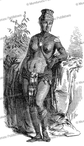 fetish woman from accra in dahomey, valentin, 1852