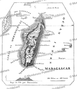 map of madagascar, l'illustration, 1846