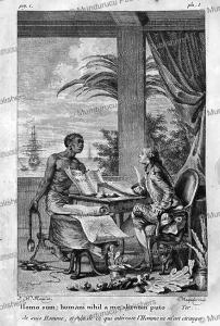 slave at reunion island, j.m. moreau, 1770