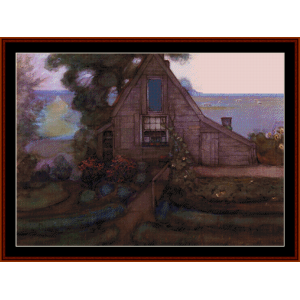 farmhouse - mondrian cross stitch pattern by cross stitch collectibles