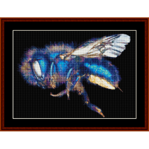 osmia ribifloris custom pattern by cross stitch collectibles