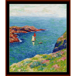 ile d'quessant - moret cross stitch pattern by cross stitch collectibles