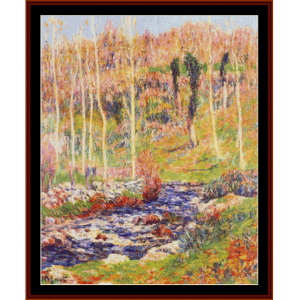 ile near quimperle - moret cross stitch pattern by cross stitch collectibles
