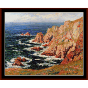 the breton coast - moret cross stitch pattern by cross stitch collectibles
