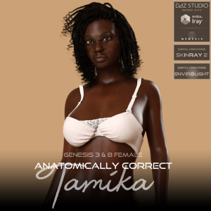 anatomically correct: tamika for genesis 3 and genesis 8 female
