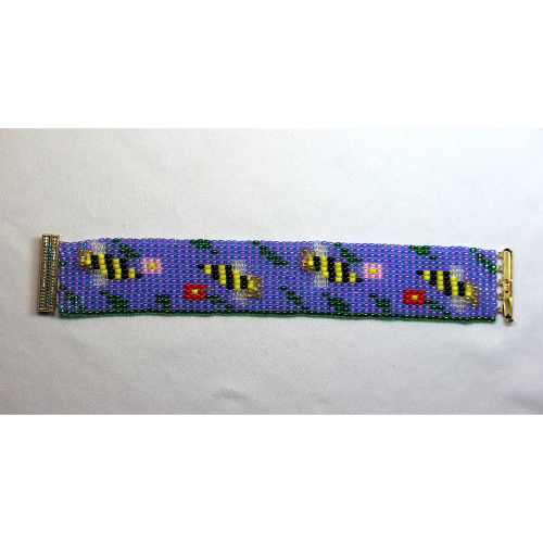 First Additional product image for - Bees & Flowers Loomed Bracelet-Pattern
