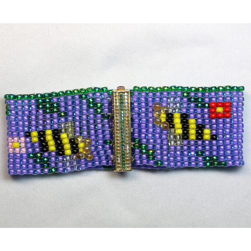 Second Additional product image for - Bees & Flowers Loomed Bracelet-Pattern