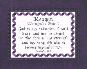 name blessings - reagan
