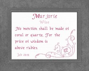 name blessings - marjorie