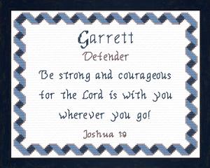 name blessings - garrett