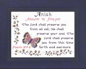 name blessings - aniah