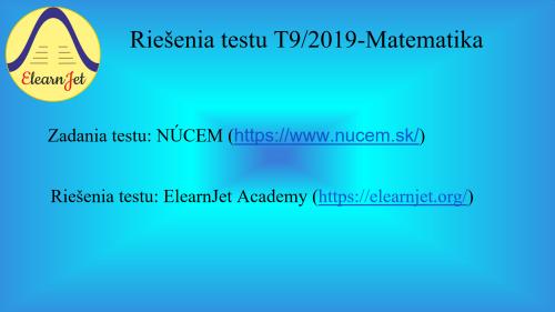 First Additional product image for - SVK-Matematika-Testovanie T9-2019-PDF+Videokurz