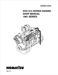 komatsu dresser kdc 614 1991 model series diesel engine shop manual cebm614sh0 english