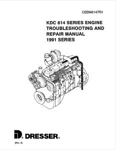 komatsu dresser kdc 614 1991 model series diesel engine troubleshooting and repair manual cebm614tr1 english