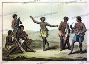 Dancing and music instruments in Congo, Gallo Gallina, 1819 | Photos and Images | Travel