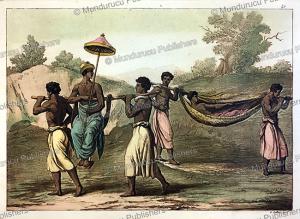 slaves carrying congolese men, gallo gallina, 1819
