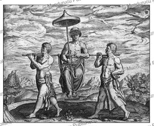 manner of transport int the congo, theodoor de bry, 1609