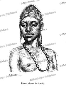 adouma woman of boundji, french congo (gabon), e. laethier, 1888