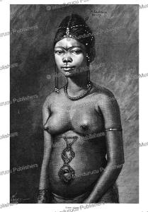 adouma woman, french congo (gabon), e. laethier, 1888
