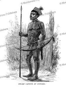 a dwarf captive at avitako near the aruwimi river in congo, henry moore stanley, 1890