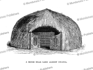 A house near Leak Albert Nyanza, Congo, Henry Moore Stanley, 1877 | Photos and Images | Travel