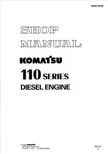 komatsu s6d110-1, sa6d110-1, 110 series diesel engine 10001 and up shop manual sebe6138a05 english