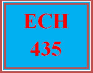 ech 435 week 4 team: creativity rubric