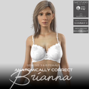 anatomically correct: brianna for genesis 3 and genesis 8 female