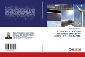 economics of variable renewable sources for electric power production