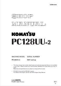 Komatsu PC128UU-2 5001 and up Hydraulic Excavator Shop Manual SEBM018506 English | eBooks | Automotive