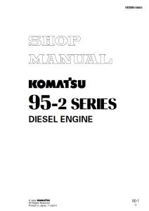 Komatsu 4D95LE-2, 95-2 Series Diesel Engine Shop Manual SEBM018803 English | eBooks | Automotive
