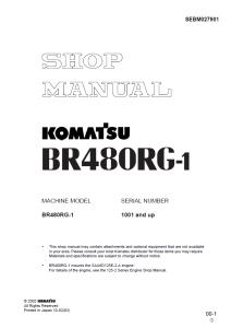Komatsu BR480RG-1 1001 and up Mobile Crusher Shop Manual SEBM027901 English | eBooks | Automotive