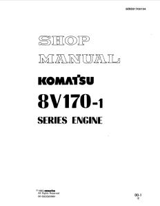 komatsu dresser sa8v170-1, 8v170-1 series diesel engine shop manual sebe61700104 english